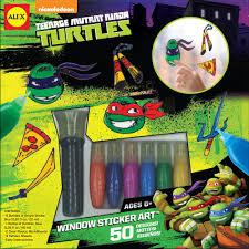 alex toys teenage mutant ninja turtles window sticker art
