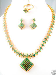 emerald earrings necklace images 22 inches long full emerald necklace with earrings gleam jewels jpg