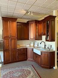 a cherry wood kitchen cabinet candlelight cherry wood kitchen sink granite countertop glass doors ebay