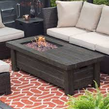 Gas Patio Table Ember Glacier 60 In Gas Pit Table With Free Cover
