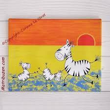 tableau pour chambre d enfant tableau enfant danse des zèbres thème la savane jungle