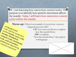 lt i am learning how convection current works the purpose is to