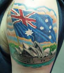 the latest australian flag map tattoo design photos pictures