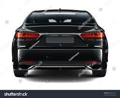 mitsubishi black cars rear view black car 3d render stock illustration 580007053