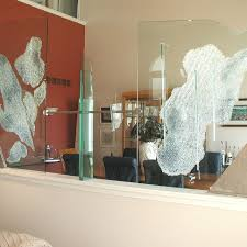 Glass Panel Room Divider Hand Crafted Glass Room Divider By Julie Mcdonough Architectural