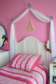 Princess Canopy Bed Creating A Disney Princess Room On A Budget Homemade Canopy