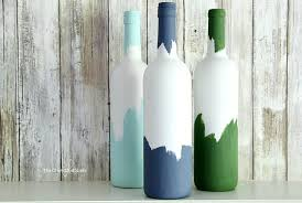 Diy Plastic Bottle Vase Painted Decorative Wine Bottles The Perfect Wine Night Upcycle