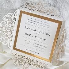 wedding invitations luxury luxury black glittery laser cut wedding invitations with gold
