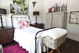 Iron Platform Bed French Cottage Bedroom With Industrial Design Style For Girls And
