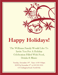 holiday party invitation holiday invitation wording from
