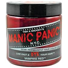 Blood Red Color Code Amazon Com Manic Panic Vampire Red Hair Dye 4 Oz Chemical Hair