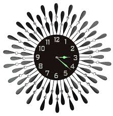 decorative clock black drop wall clock decorative metal wall clock with black