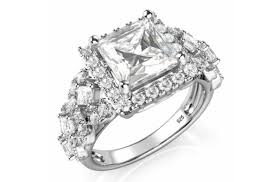 wedding jewelry rings images 2 carat round brilliant cubic zirconia cz sterling silver 925 png