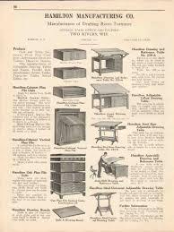 Hamilton Manufacturing Company Drafting Table Hamilton Mfg Company 1931 Drafting Room Furniture Vintage Catalog