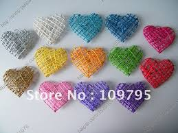 new 9cm x 8cm 50pcs lot colors mixed wedding decoration rattan