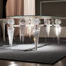 swarovski crystal silver leaf glass table juliettes interiors