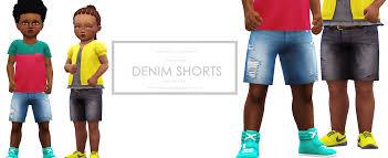 toddler ripped torn denim shorts onyx sims