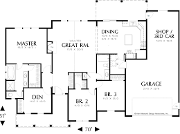 Shop Floor Plan 1873 Fox Custom Homes
