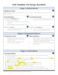 design criteria questions ubd template with design questions school pinterest template