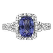 tanzanite engagement ring 10k white gold cushion cut tanzanite and engagement ring