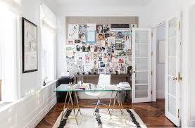 Glass Home Office Desk Cross Base Desk Polished Nickel West Elm In Glass Home Office Desk