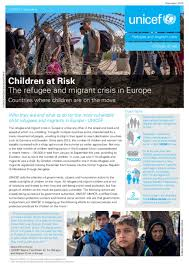 document children at risk the refugee and migrant crisis in europe