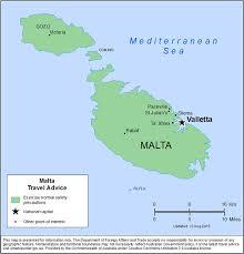 Malta World Map Smartraveller Gov Au Malta