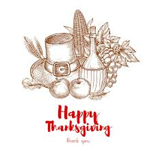 happy thanksgiving greeting card stock vector illustration
