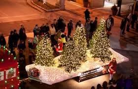 holiday lights parade in downtown fargo moorhead video fargo