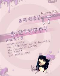 invitation birthday sweet 17th by digitalstudio41 on deviantart