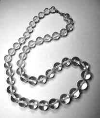 crystal necklace rock images Pools of light rock crystal quartz bead necklace silver clasp jpg