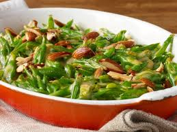 green bean casserole with goat cheese almonds and smoked paprika