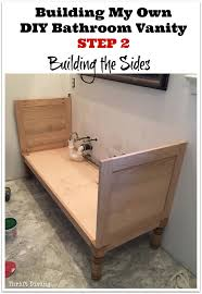 build your own bathroom vanity plans bathroom cabinet plans ted