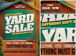 end of summer yard sale flyer template flyerheroes