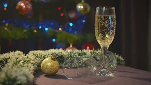 New Years Holiday Decorations by New Year And Christmas Celebration With Champagne Wineglasses Of