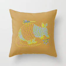 Throw Pillows Armadillo Throw Pillows Society6