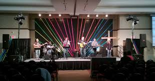 colorful duct tape church stage design ideas youth room