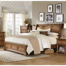 aspenhome alder creek sleigh bedroom set in butterscotch