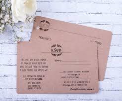 Cheap Wedding Invitations And Response Cards Rustic Rsvp Wedding Response Card And Recipe Cards Wedding