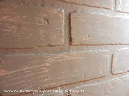 Faux Brick Kitchen Backsplash by Budget Friendly Painted Brick Backsplash At The Everyday Home