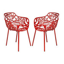 Red Dining Chair Modern Red Outdoor Dining Chairs Allmodern