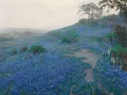 Bluebonnet Flowers - art of the day julian onderdonk bluebonnet landscape with cacti