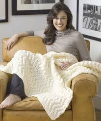 Red Heart Comfort Yarn Patterns Quick Knit Blanket Red Heart