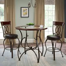 counter height bistro table corliving jericho counter height matte brown 3 piece barstool and