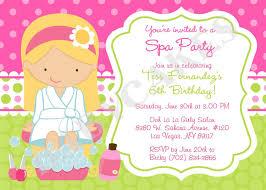 Birthday Cards Invitations Printable Spa Birthday Party Invitations Party Invitations Templates