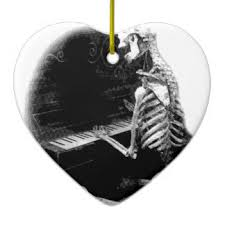 skeleton drawings ornaments keepsake ornaments zazzle