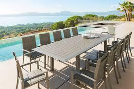 table de jardin haut de gamme allure salon de jardin tabouret de bar coffre de rangement
