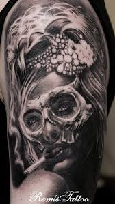 day of the dead tattoo sugar tattoo by remistattoo on deviantart