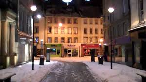 snow and christmas lights perth scotland youtube