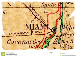Map Of Miami Florida Retro Miami Florida Map Royalty Free Stock Image Image 36640756